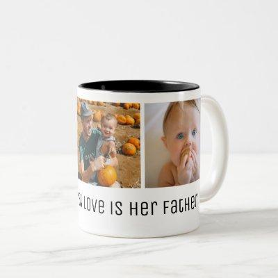 A Girl's First Love Father's Day Photo Two-Tone Coffee Mug