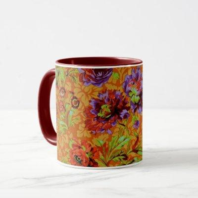A Lovely Philip Jacobs Fabric Floral Brocade Mug
