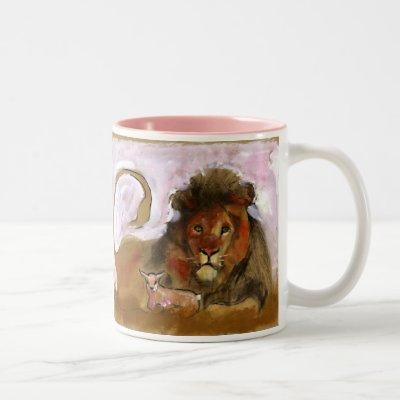 A.S.K. - Lion & Lamb Two-Tone Coffee Mug