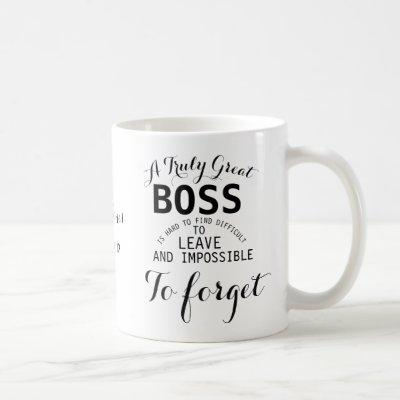 A truly Great Boss Mug  Boss gift