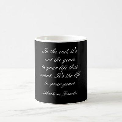 Abraham Lincoln quote - mug