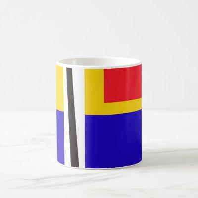 Abstract Piet Mondrian Inspired Artsy Drinking Mug