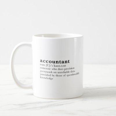 Accountant - dictionary definition coffee mug