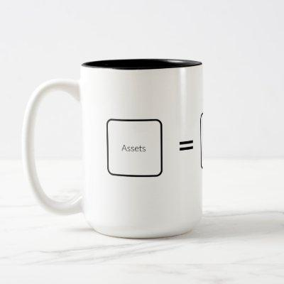 Accountant's Equation Two-Tone Coffee Mug