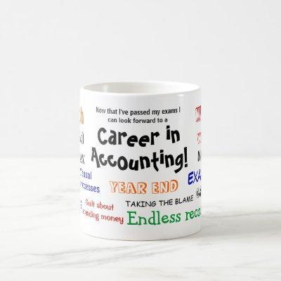 Accounting Exam Success Celebration Cruel Joke Coffee Mug