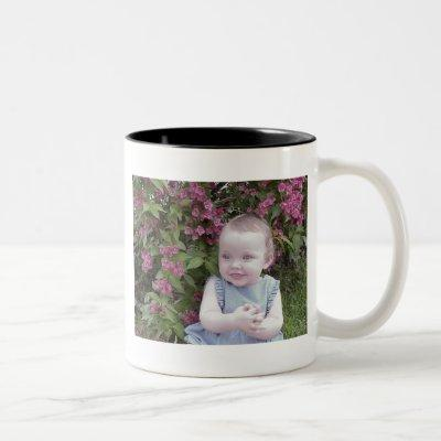 Add 2 Photos - Simple Collage on both sides Two-Tone Coffee Mug
