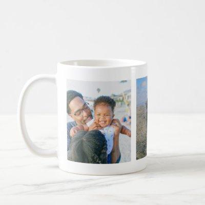 ADD 3 PHOTOS Instagram Selfies Family Holiday Pets Coffee Mug