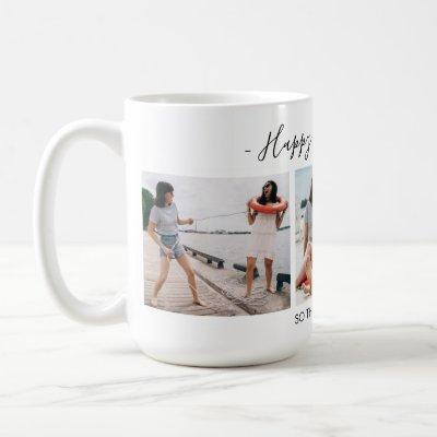 Add Own Text Script 3 Photo Collage Friendsgiving Coffee Mug