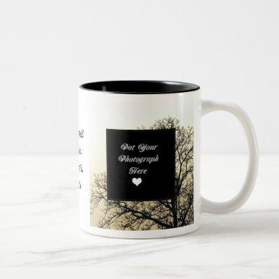 ADD YOUR OWN PHOTO & TEXT Two-Tone COFFEE MUG