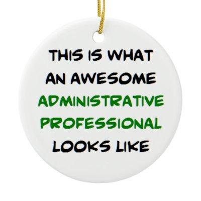 administrative professional ceramic ornament