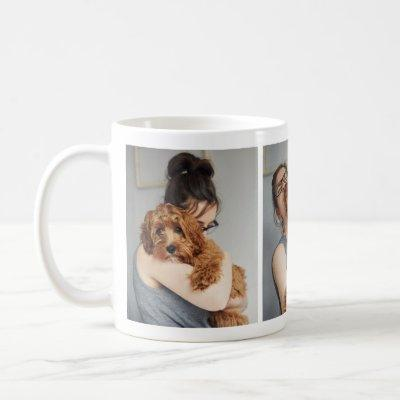 Adorable Dog Lover's Photo Collage Mug
