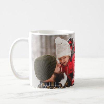 Adorable Family Holiday Christmas Photo Mug