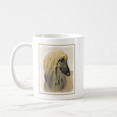 Afghan Hound Painting - Cute Original Dog Art Coffee Mug