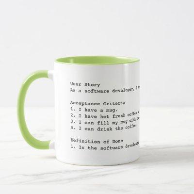 Agile user story acceptance criteria mug