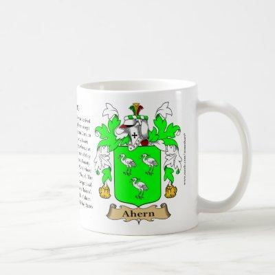 Ahern, the Origin, the Meaning and the Crest Coffee Mug