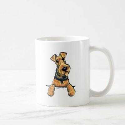 Airedale Terrier Line Art Coffee Mug