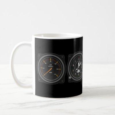 Airplane Gauges Coffee Mug