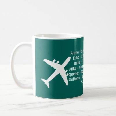 Airplane Spotters Phonetic Alphabet Aviation Mug