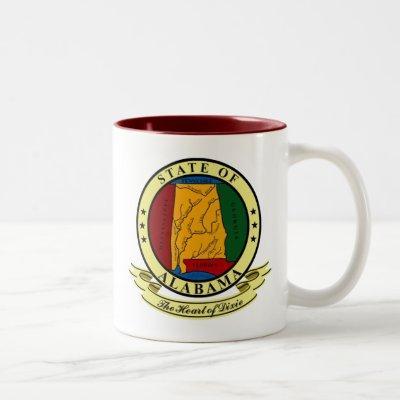 Alabama Seal Two-Tone Coffee Mug