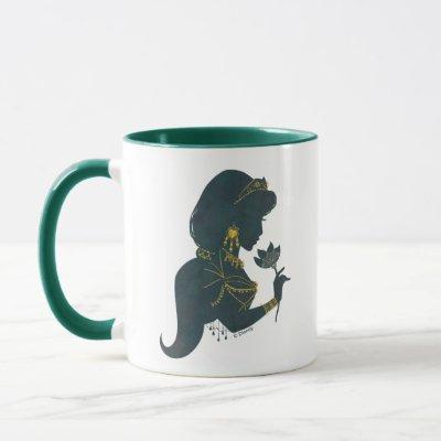 Aladdin   Jasmine Gilded Silhouette Mug