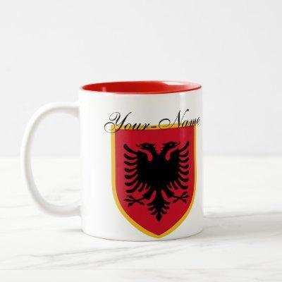 Albania Flag Two-Tone Coffee Mug