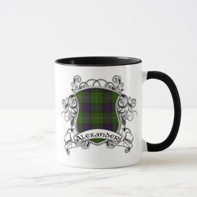 Alexander Tartan Shield Mug