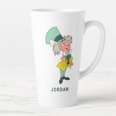 Alice in Wonderland Mad Hatter standing talking Latte Mug