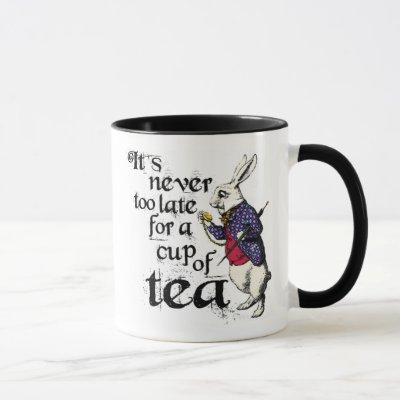 Alice In Wonderland Rabbit Novelty Tea Mug