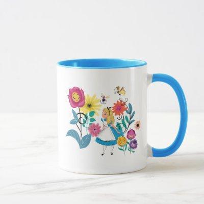 Alice in Wonderland   The Wonderland Flowers Mug