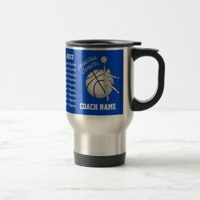 ALL Player's NAMES Girls Basketball Coach Mugs