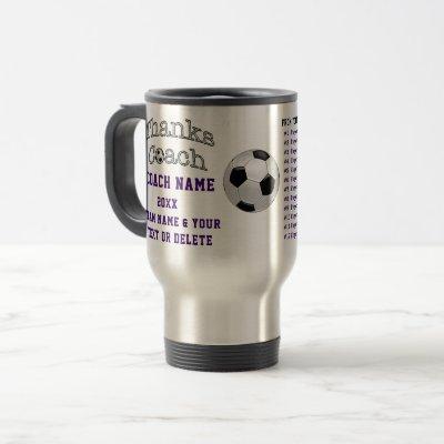 ALL Player's Names Good Soccer Coach Gifts Travel Mug