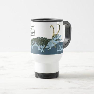 Alligator Loki Illustration Travel Mug