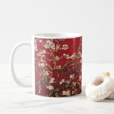 Almond Blossoms Red Vincent van Gogh Art Painting Coffee Mug