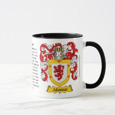 Alonzo Family Coat of Arms Mug