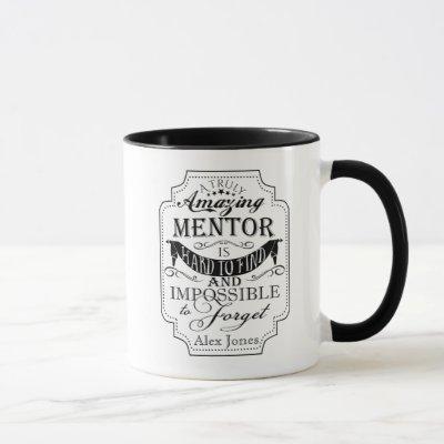 amazing personalise mentor thank you gift mug
