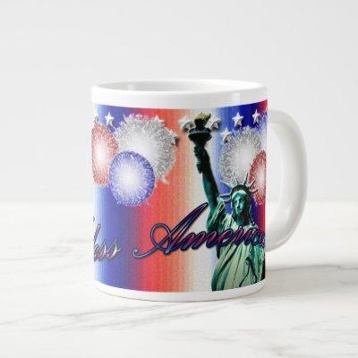 America Patriotic Stars & Stripes Jumbo Mug