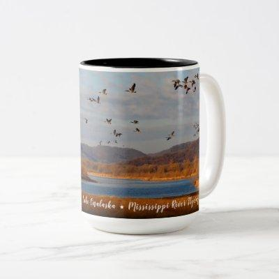 America the Beautiful: Mississippi River Flyway Two-Tone Coffee Mug