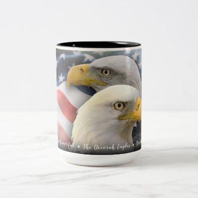 America the Beautiful: The Decorah Eagles Two-Tone Coffee Mug