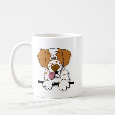 American Brittany Spaniel Cartoon Dog Mug