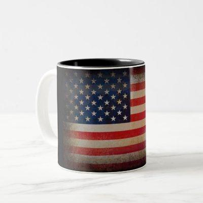 American Flag Custom Mug |Coffee, Milk or Tea