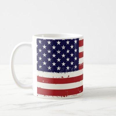 Americana American Flag Coffee Mug