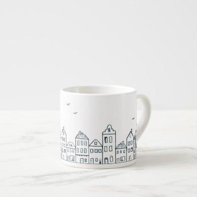 Amsterdam houses espresso cup