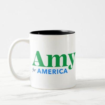 Amy Klobuchar for President 2020 Two-Tone Coffee Mug