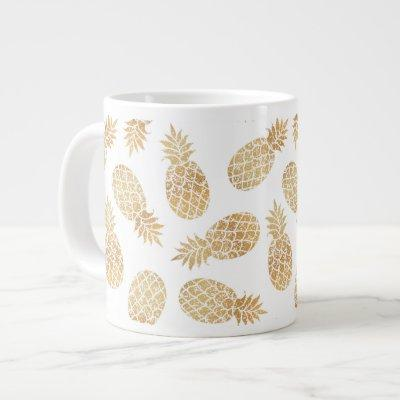 ananas GOLD PINEAPPLE chic GLAMOUR Giant Coffee Mug