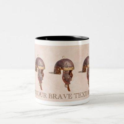 Ancient Roman helmet Two-Tone Coffee Mug