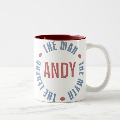Andy Man Myth Legend Customizable Two-Tone Coffee Mug