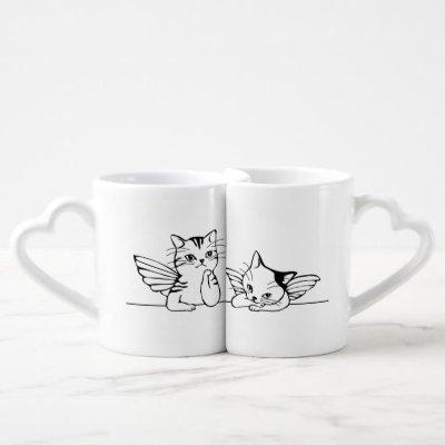 Angel Kitten Lover's Mug Set