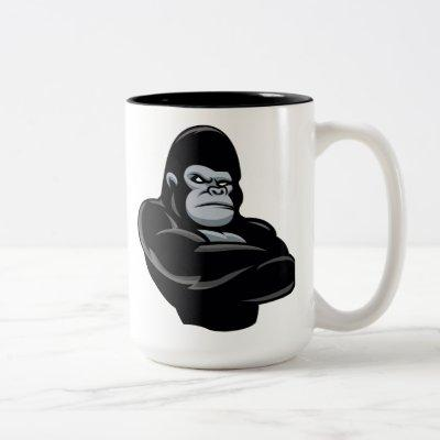 angry  gorilla Two-Tone coffee mug