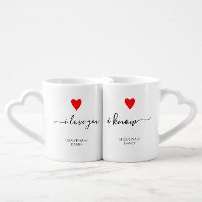 Anniversary Wedding Couple Set Personalized Unique Coffee Mug Set