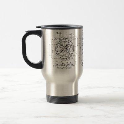 Antikythera Mechanism Drawing Coffee Mug